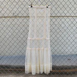 Sheer Mesh Maxi Skirt